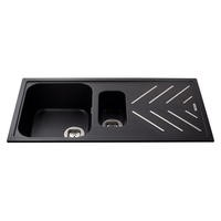 CDA KG82BL Composite Double Bowl Sink Black