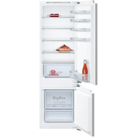 Neff KI5872F30G 54cm Wide 70-30 Integrated Upright Fridge Freezer - White