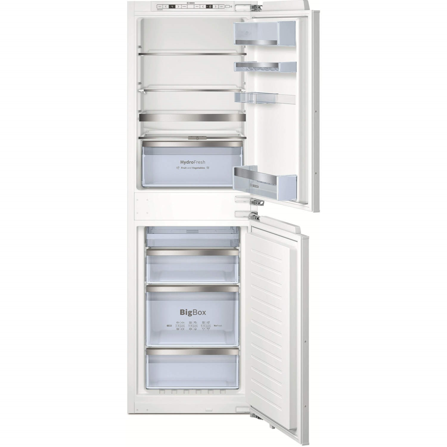 bosch kin85af30g 56cm wide frost free integrated upright fridge freezer white