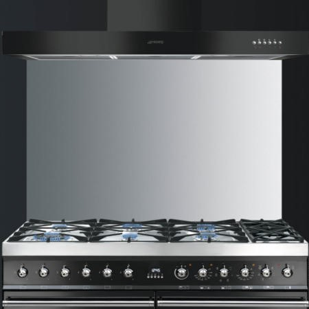 GRADE A1 - Smeg KITS110X8 110cm Stainless Steel Splashback for Symphony Cookers