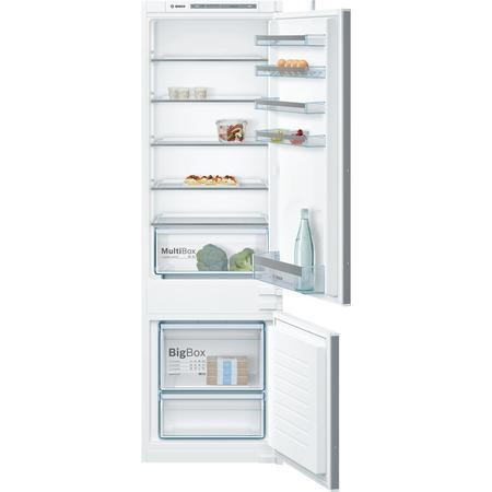 Bosch Serie 4 KIV87VS30G 54cm Wide 70-30 Integrated Upright Fridge Freezer - White