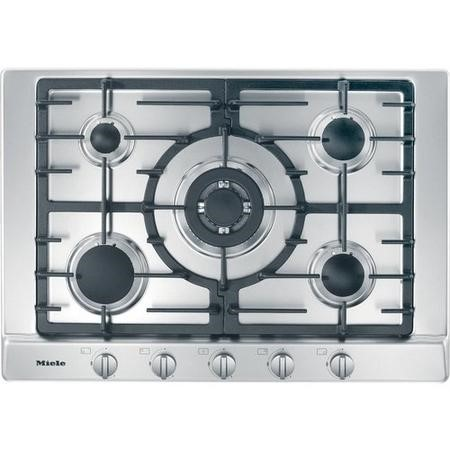 Miele KM2032 75cm Five Burner Gas Hob - Stainless Steel