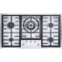 Miele KM2354SS 90cm Wide 5 Burner Gas Hob - Stainless Steel