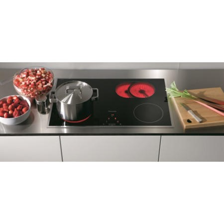 Miele KM5617 76cm Four Zone Touch Control Ceramic Hob with Stainless Steel Frame