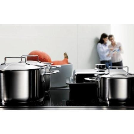 Miele PureLine KM6118 76cm Four Zone Induction Hob with Stainless Steel Trim - Black