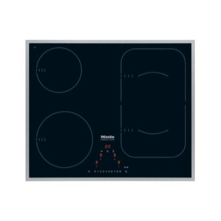 Miele KM6322 61.4cm Wide 4 Zone Induction Hob With 2 PowerFlex Zones - Stainless Steel Frame