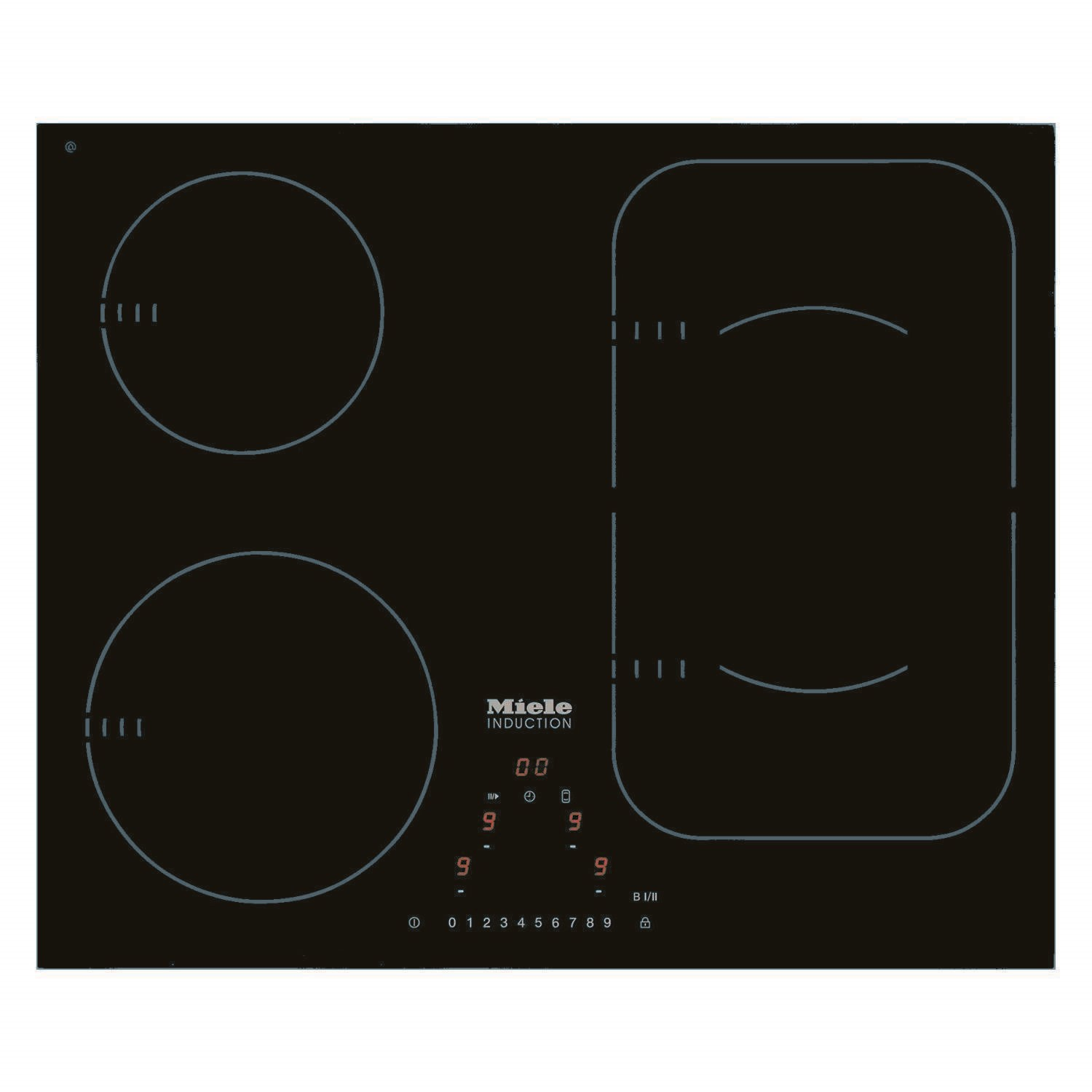 Superbe Miele KM6323 62cm Wide 4 Zone Induction Hob With PowerFlex Zones Stainless  Steel Trim