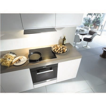 Miele KM6323 62cm Wide 4 Zone Induction Hob With PowerFlex Zones Stainless Steel Trim