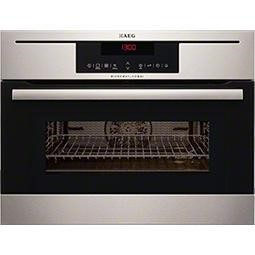 77243396/1/KM8403021M GRADE A3 - Heavy cosmetic damage - AEG KM8403021M Compact Height Built-in Combination Microwave Oven - Antifingerprint Stainless Steel
