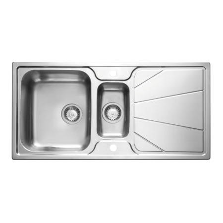 Astracast KO20XXHOMESK Korona Double Bowl Reversible Drainer Polished Stainless Steel Sink