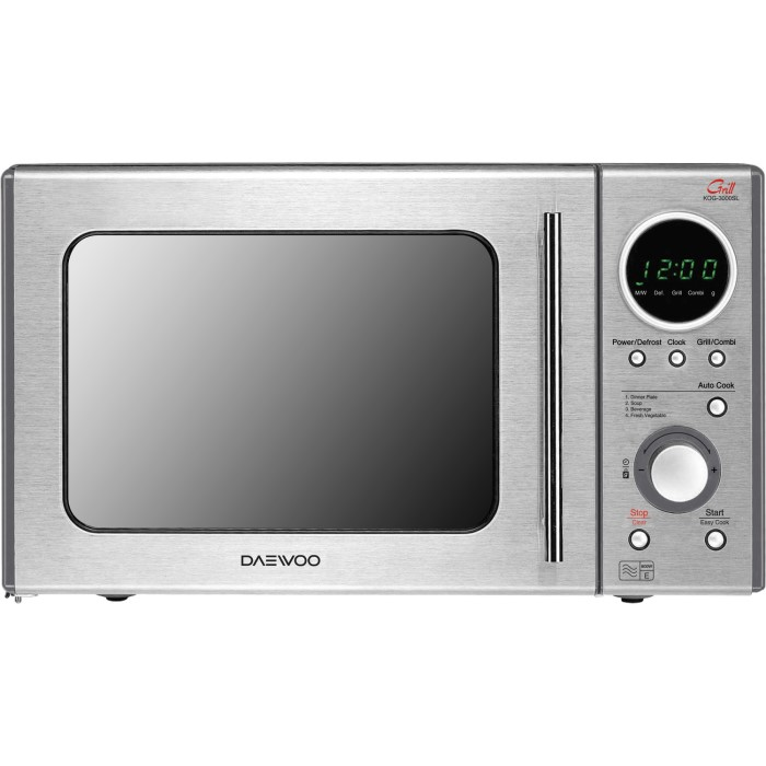 daewoo kog3000sl 20l 800w freestanding touch microwave with grill in stainless steel. Black Bedroom Furniture Sets. Home Design Ideas