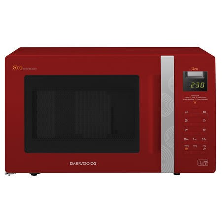 Daewoo KOR6A0RR 20L 800W Touch Control Freestanding Microwave in Red