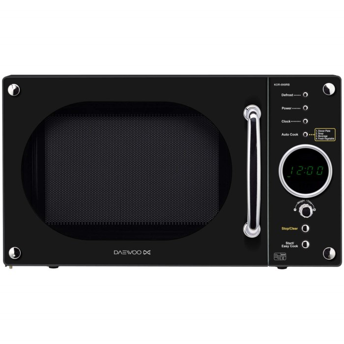 Daewoo KOR6N9RB 20 Litre Black Freestanding Microwave Oven ...