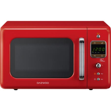 Daewoo KOR7LBKR 20L 800W Freestanding Microwave Oven - Red