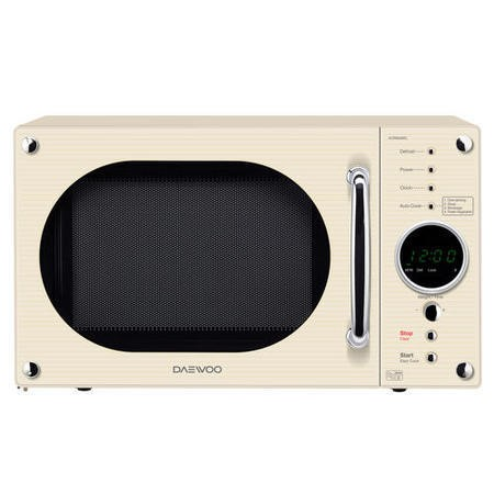 Daewoo KOR8A9RC 23L 800W Retro Design Freestanding Microwave in Cream