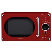 Daewoo KOR8A9RR 23L 800 W Retro Design Microwave Oven Gloss Red