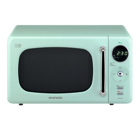 Daewoo KOR9LBKMR 20L 800W Freestanding Microwave With Eco Zero Standby - Mint Green