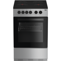 Beko KS530S 50cm Single Oven Electric Cooker With Sealed Plate Hob - Silver Best Price, Cheapest Prices