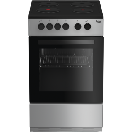 GRADE A2 - Beko KS530S 50cm Single Oven Electric Cooker With Sealed Plate Hob - Silver