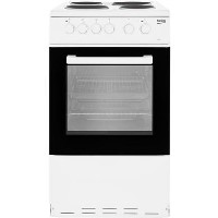 Beko KS530W 50cm Single Oven Electric Cooker With Sealed Plate Hob - White