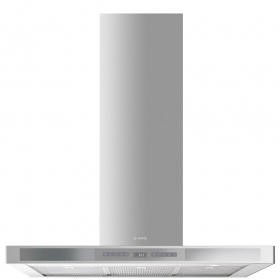 Smeg KS912XE Linea 90cm Chimney Cooker Hood Stainless Steel With Silver Glass Control Panel