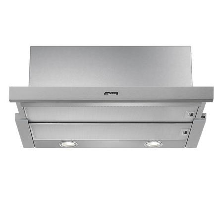 Smeg KSET600XE 60cm Wide Telescopic Cooker Hood Stainless Steel Front
