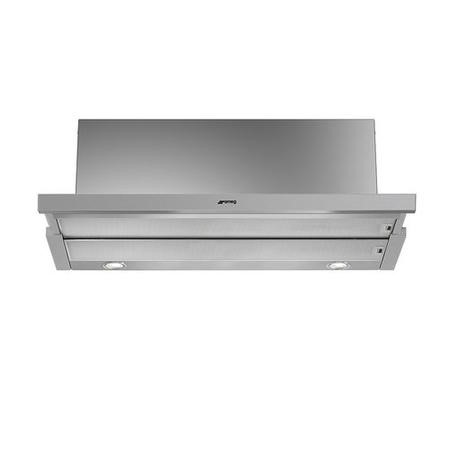 GRADE A2  - Smeg KSET900XE 90cm Telescopic Cooker Hood Finger-friendly Stainless Steel
