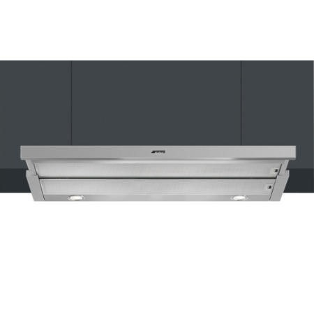 Smeg KSET900XE 90cm Telescopic Cooker Hood Finger-friendly Stainless Steel
