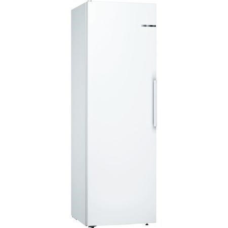 Bosch KSV36NWEPG Serie 2 186x60cm Upright Freestanding Fridge With SuperCool And MultiBox Drawer - White