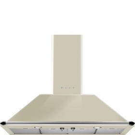 Smeg KT110PE Traditional Style 110cm Chimney Cooker Hood With Rail Cream