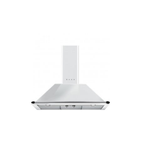 Smeg KT90BE Traditional Style 90cm Chimney Cooker Hood With Rail White