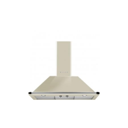 GRADE A2 - Smeg KT90PE Traditional Style 90cm Chimney Cooker Hood With Rail Cream
