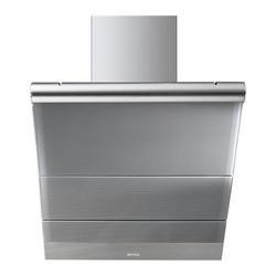 Smeg KTS75CE Linea 75.6cm Angled Stainless Steel And Silver Glass Cooker Hood