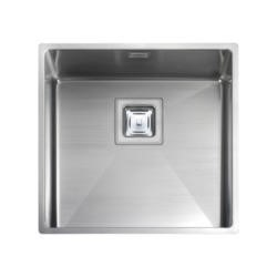 Rangemaster KUB40 Kube Undermount 400x400 1.0 Bowl Reversible Stainless Steel Sink