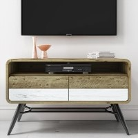 Kuta Reclaimed Wood TV Unit - Industrial Style TV's up to 36