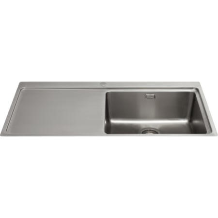 CDA KVF21LSS Designer Single Extra Large Bowl Sink Flush Fit - Left Hand Drainer