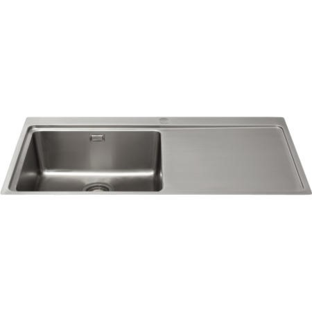 CDA KVF21RSS Designer Single Extra Large Bowl Sink Flush Fit - Right Hand Drainer