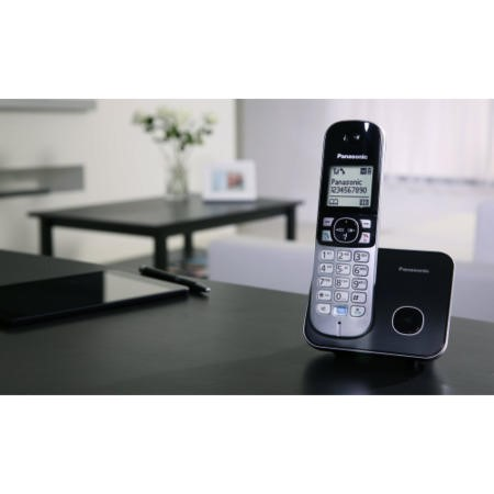Panasonic KX-TG6812EB Cordless Telephone - Twin