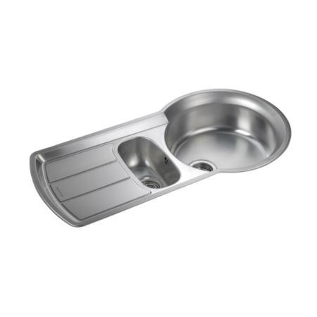 Rangemaster KY10002 Keyhole 1000x520 1.5 Bowl Reversible Stainless Steel Sink