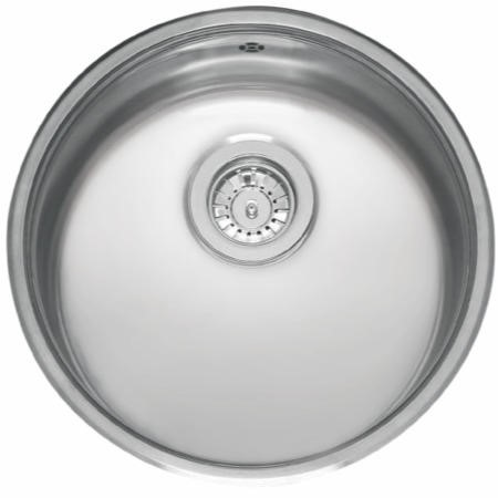 Reginox L18390OKG Round 1.0 Bowl Integrated Stainless Steel Sink