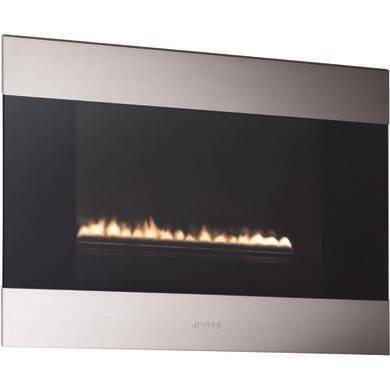 GRADE A1 - Smeg L23CLP Classic Landscape LPG Gas Wall Fire in Stainless Steel