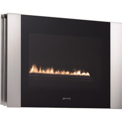 Smeg L23LINP Linea Landscape LPG Gas Wall Fire in Stainless Steel