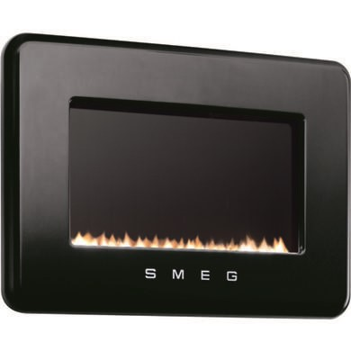 L30FABBL Smeg L30FABBL 50s Retro Style Natural Gas Wall Fire in Black