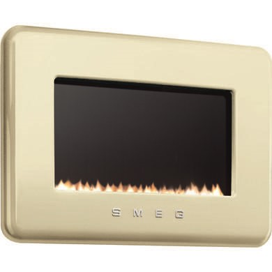 L30FABCR Smeg L30FABCR 50s Retro Style Natural Gas Wall Fire in Cream