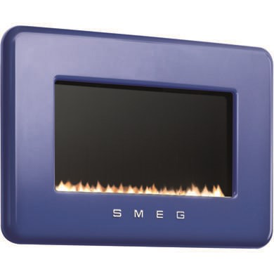 Smeg L30FABDB 50s Retro Style Natural Gas Wall Fire in Dark Blue