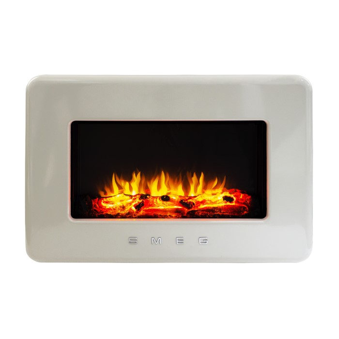 Smeg Modern Wall Mount Electric Fire Cream L30fabecr