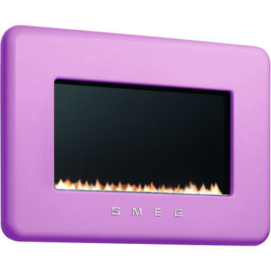 Smeg L30FABPI 50s Retro Style Natural Gas Wall Fire in Pink