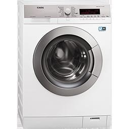 AEG L87405FL 10kg Protex Drum 1400rpm Freestanding Washing Machine White With Silver Control Panel