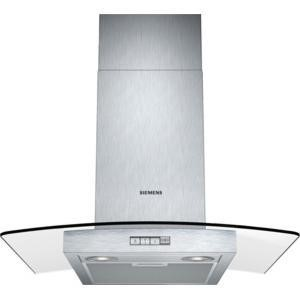 Siemens LC64GB522B 60cm Stainless Steel Chimney Cooker Hood With Curved Glass