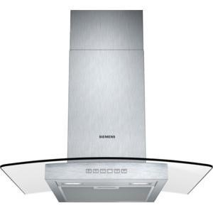 Siemens LC67GB532B 60cm Chimney Cooker Hood With Curved Glass Canopy Stainless steel